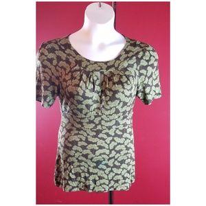 Halogen Fashion print Blouse Size Large